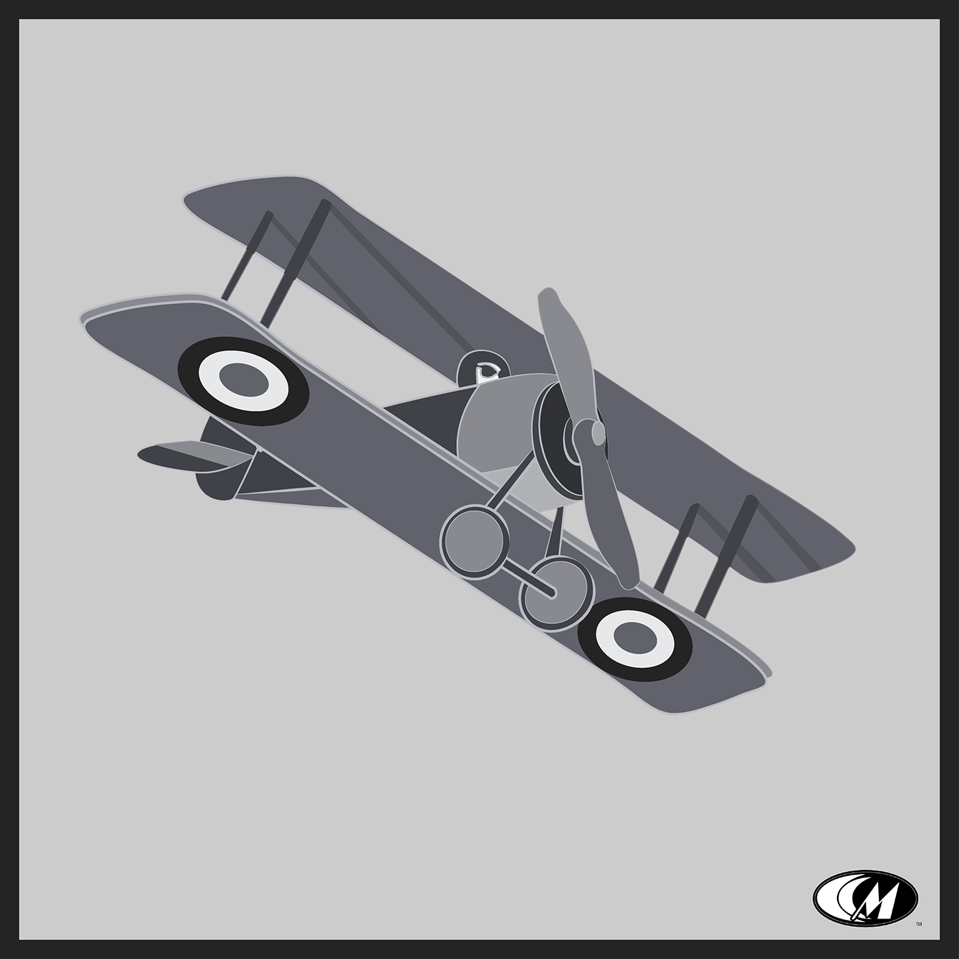 Pilot WWI airplane britain fighter aircraft minimalist air force Flying vintage greyscale
