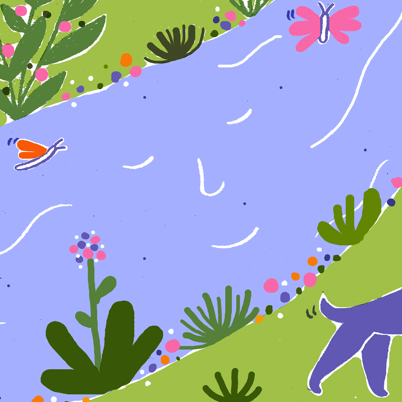 ILLUSTRATION  Nature art animals Drawing  colors colorful natural river Flowers