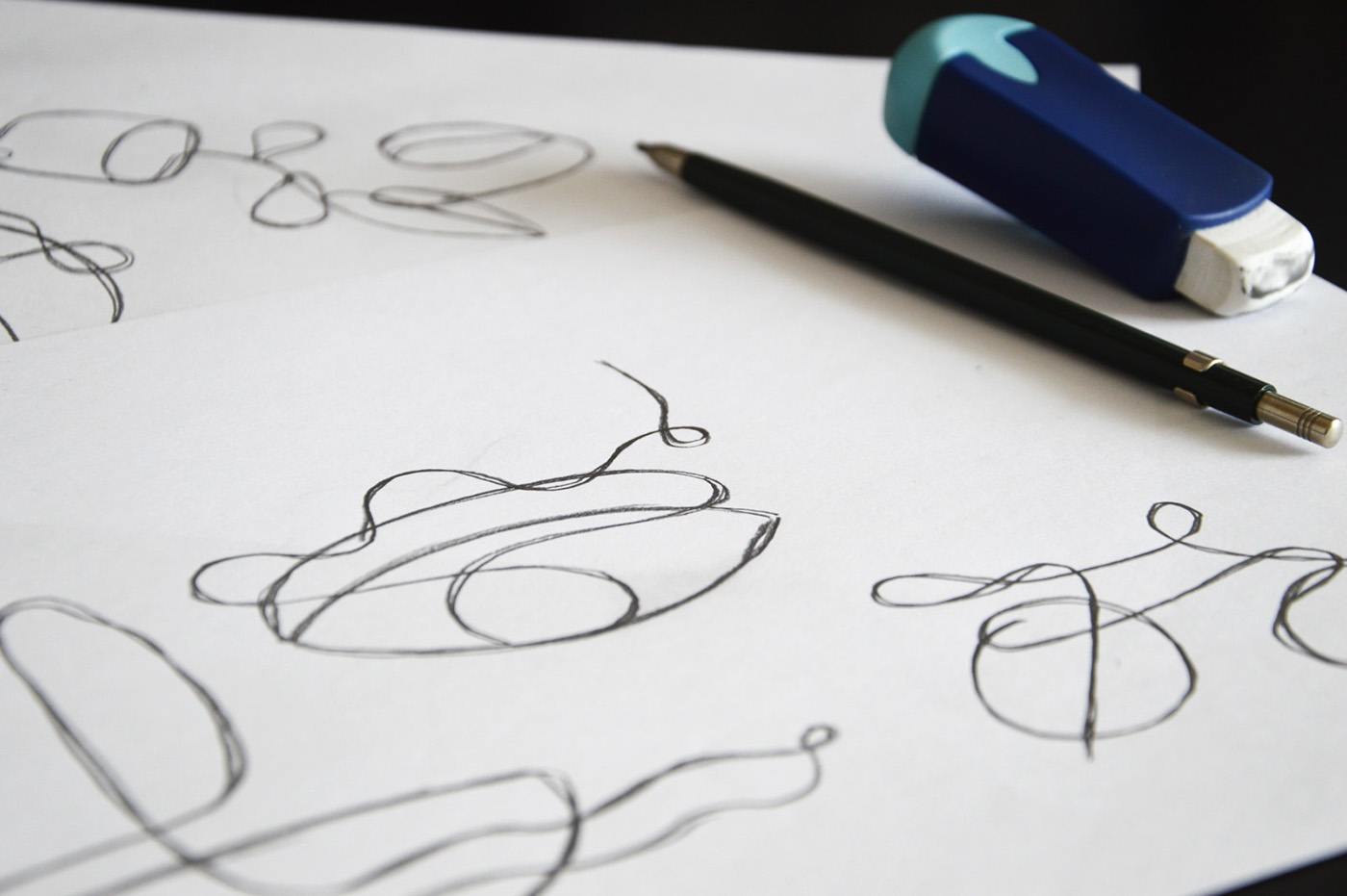 Single Line Text Art : One line abstracts on behance