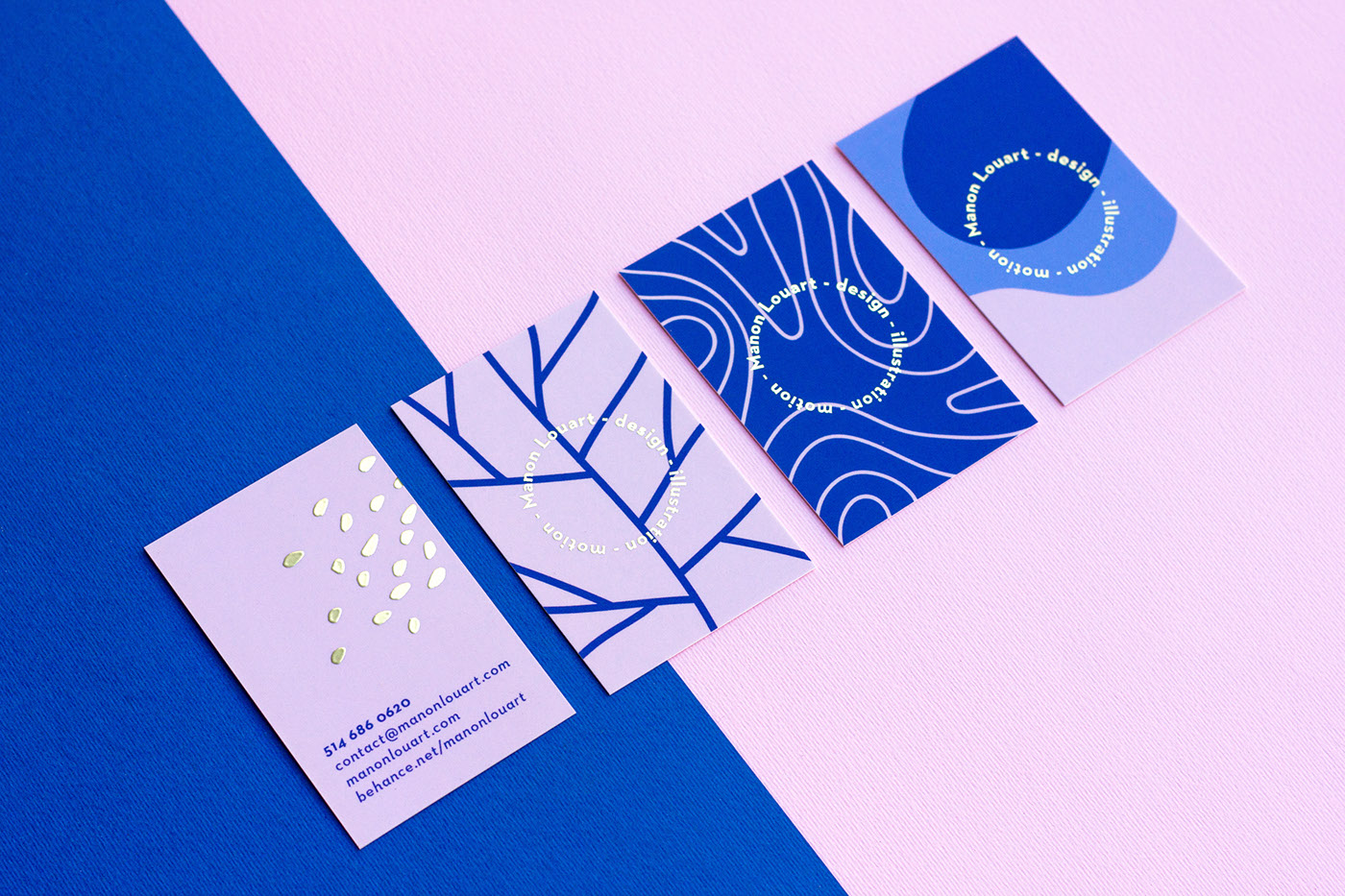 branding  business card gold foil identity pastel motion print AR augmented reality motion design
