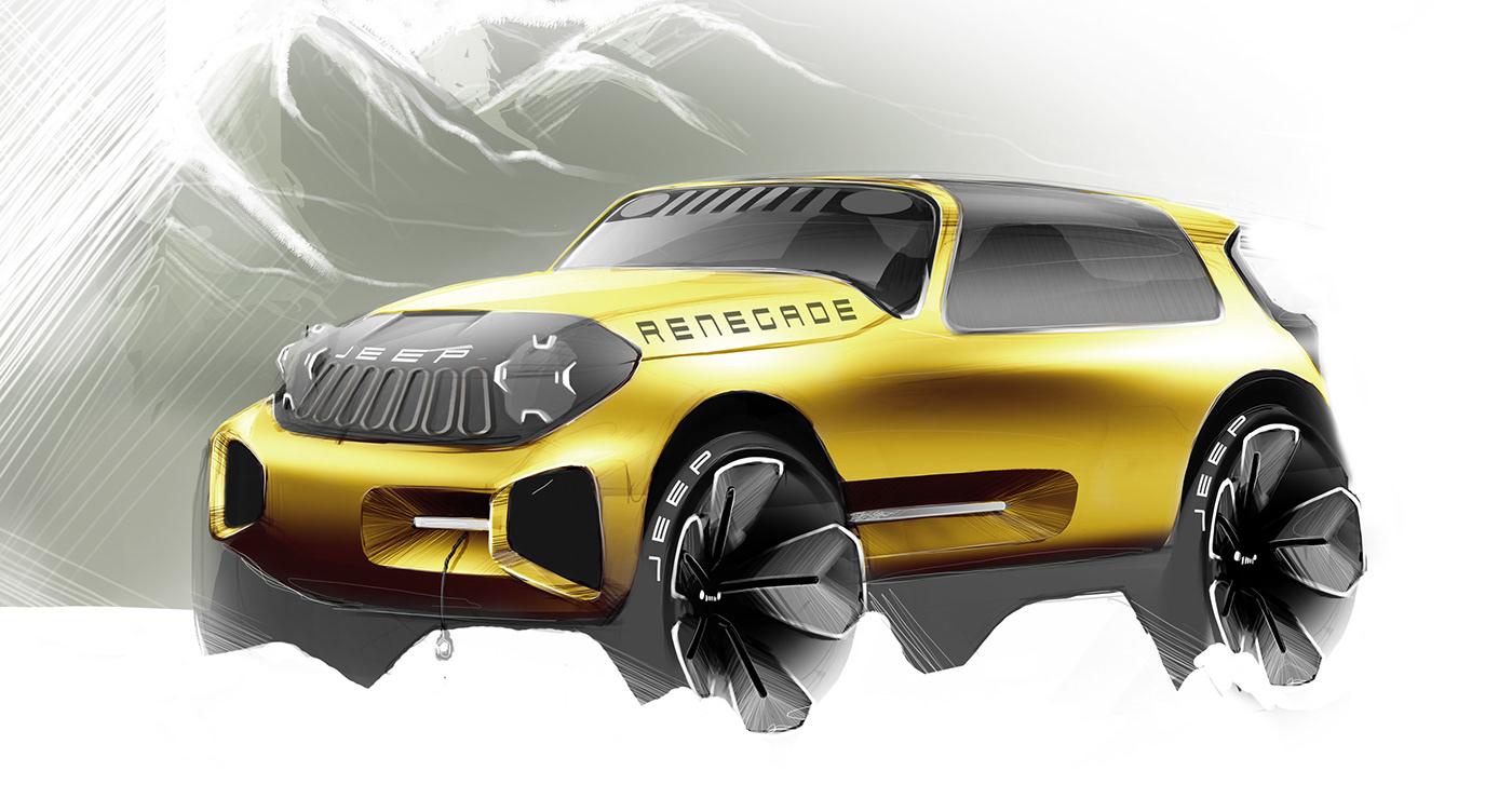 精細的20款概念車草圖設計欣賞