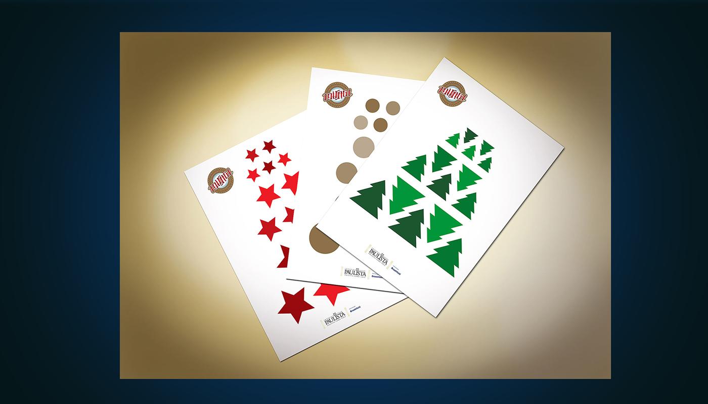 branding  Christmas marketing   case Event scenography mark identity design Logotipo