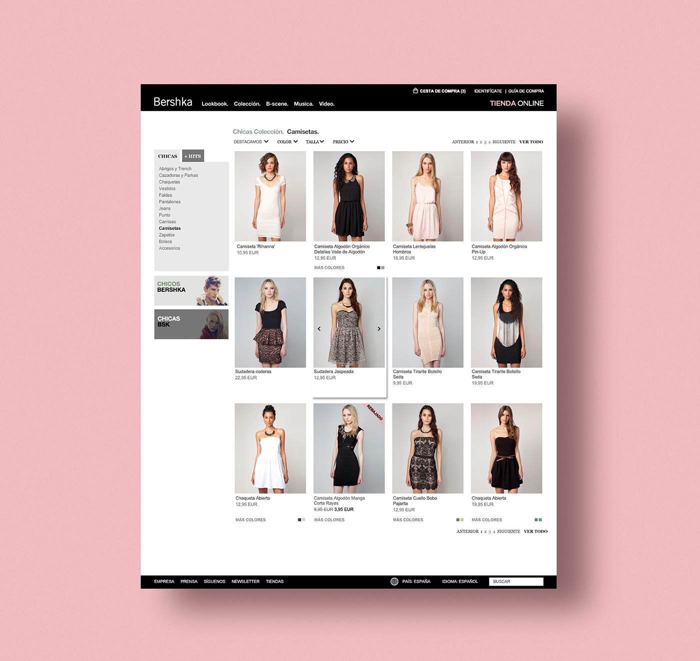 bershka online shop on behance. Black Bedroom Furniture Sets. Home Design Ideas