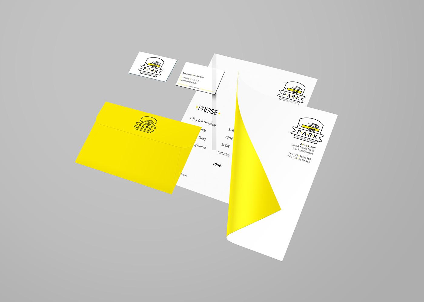 Corporate Design ILLUSTRATION  black yellow car Brand Design typografie minimalistic