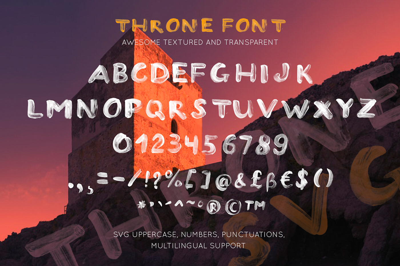 svg font brush hand drawn lettering vector Free font typefase throne Anza Letters