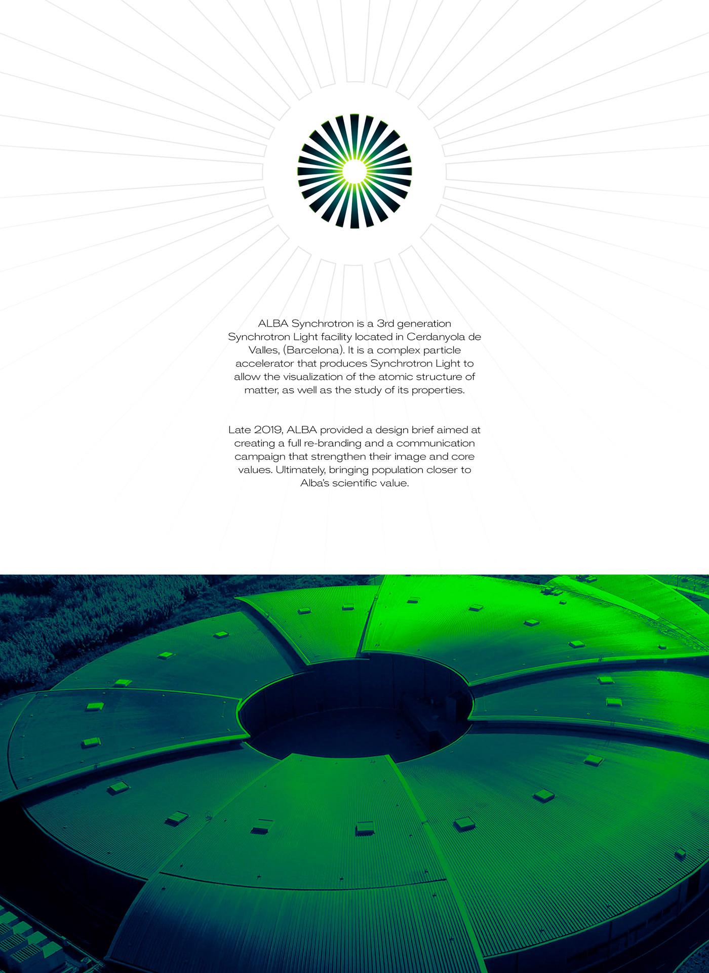 accelerator branding  communication graphicdesign light logo science spain synchrotron visual