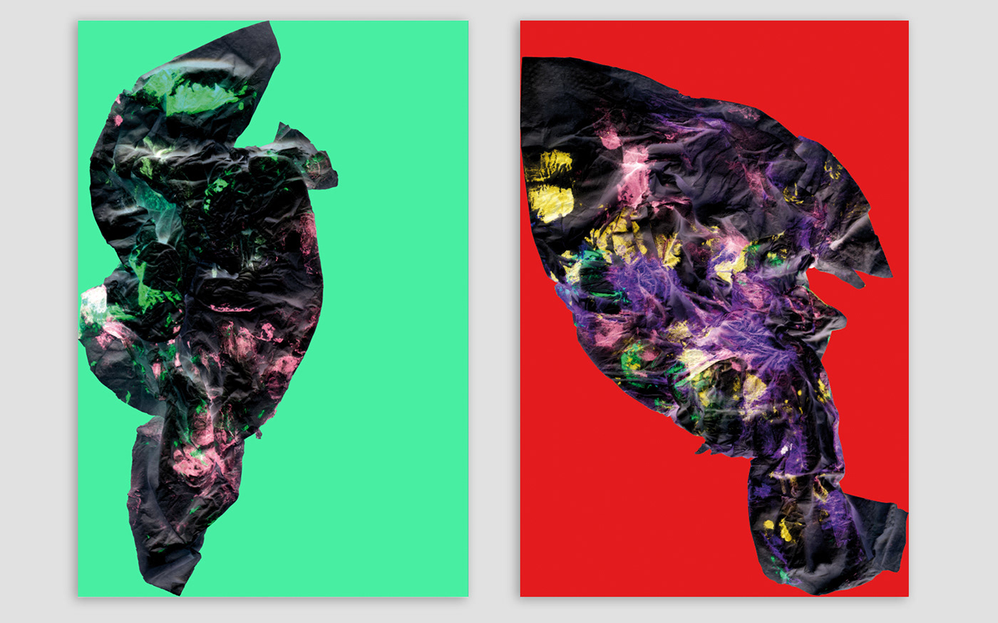 Two digital paintings with colors