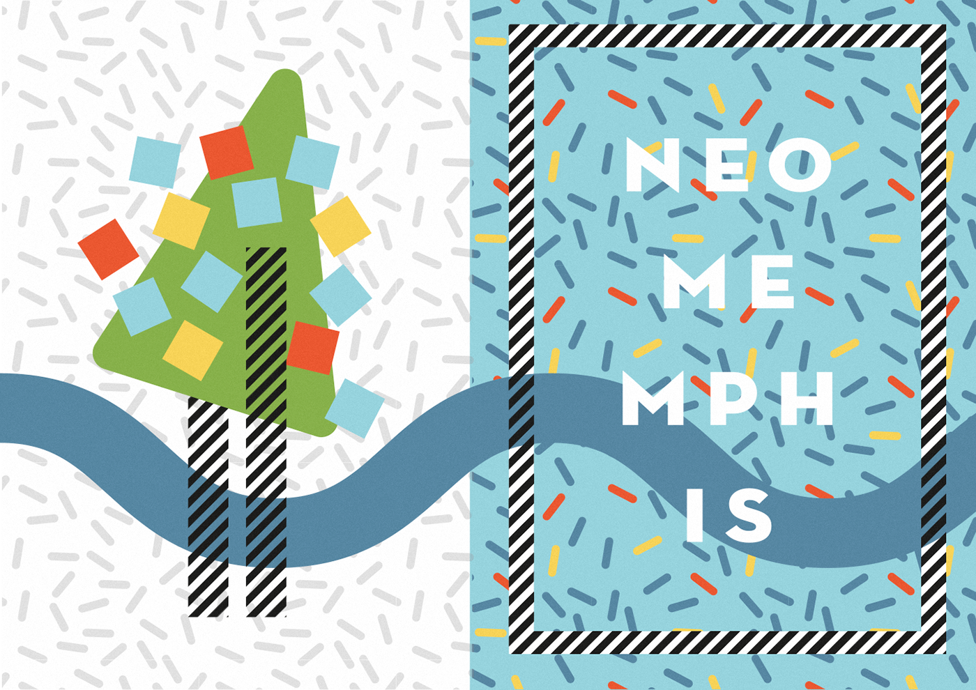 neo memphis graphics on behance