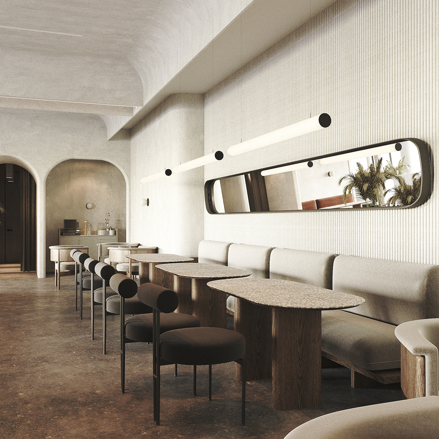 archviz Cafe design cafe interior cafe interior design CGI coronarenderer modern cafe interior restaurant design restaurant interior