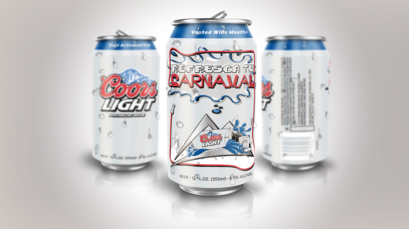Coors Light Panama Carnaval Can On Behance