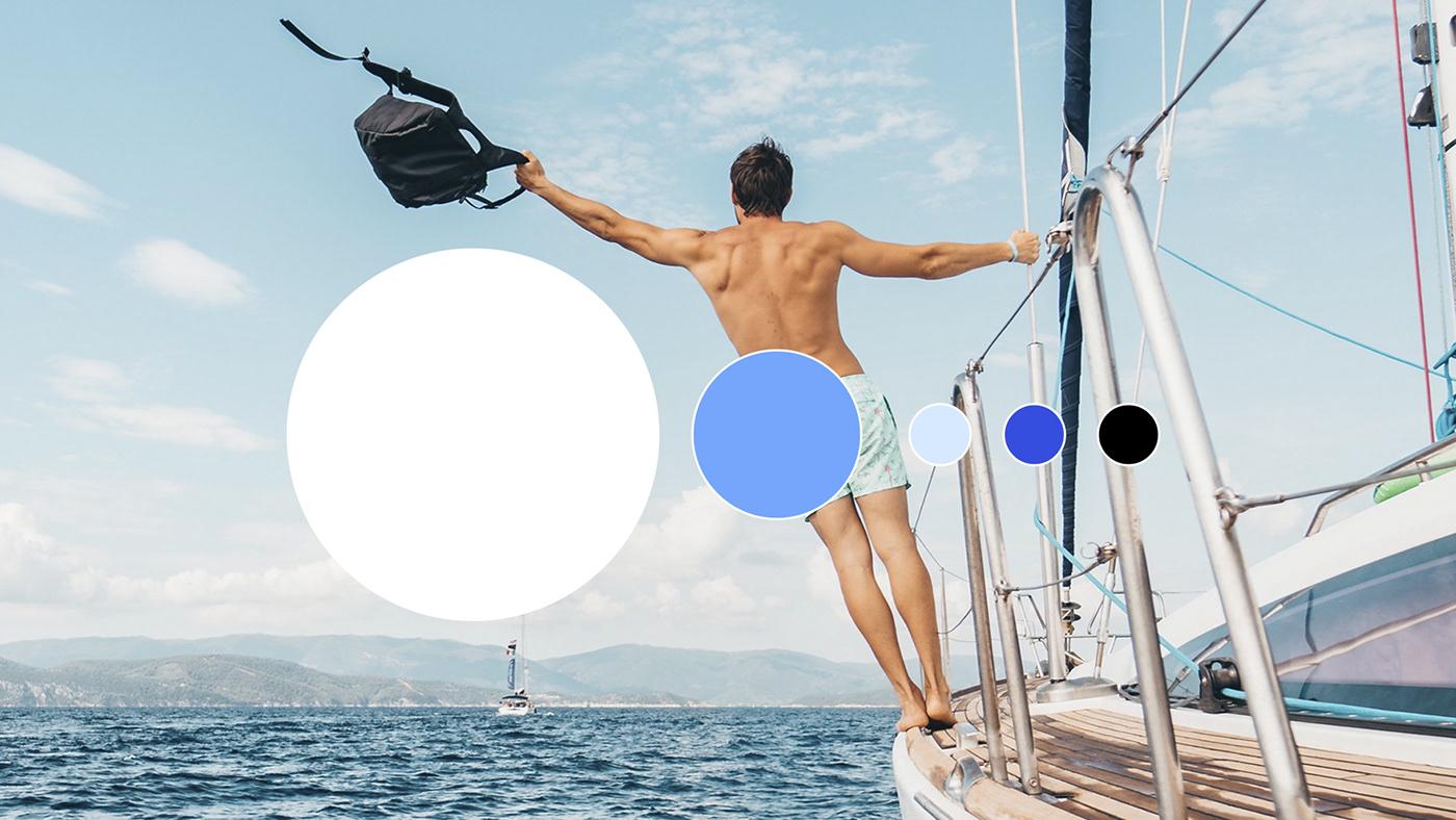 identity online-school English School SMM Ocean england Illustation lines flag kiev