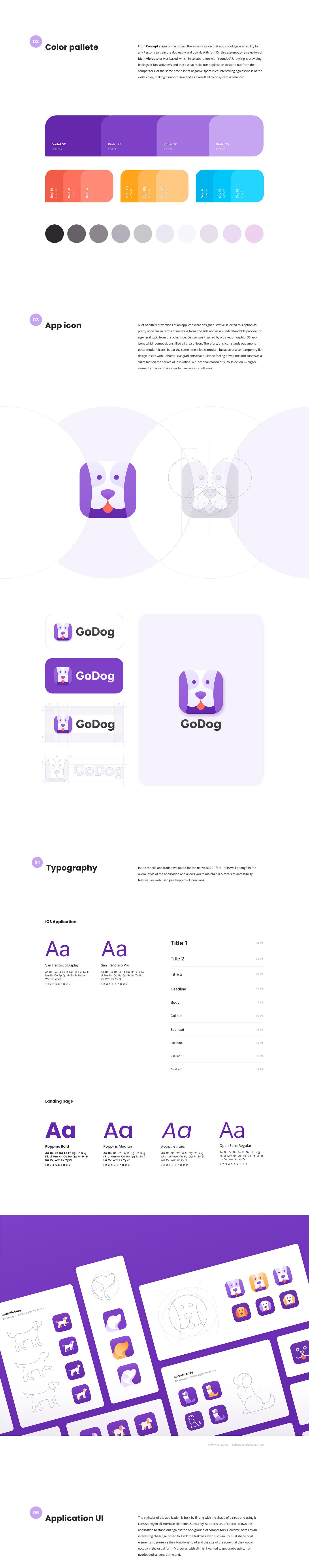 animation  app application dog dog training GODOG iOS App product design  UI UI/UX