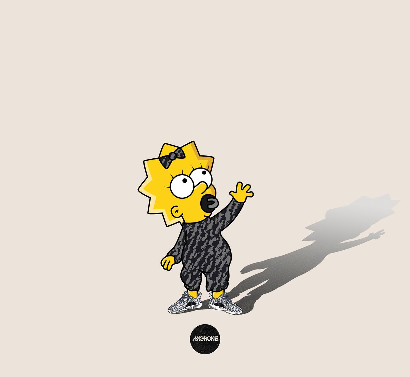The Simpsons X Yeezy Season 2 X Machonis On Behance
