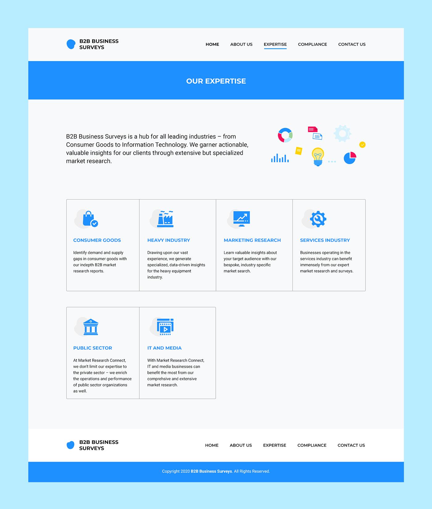 Analysis b2b design research UI ux Web