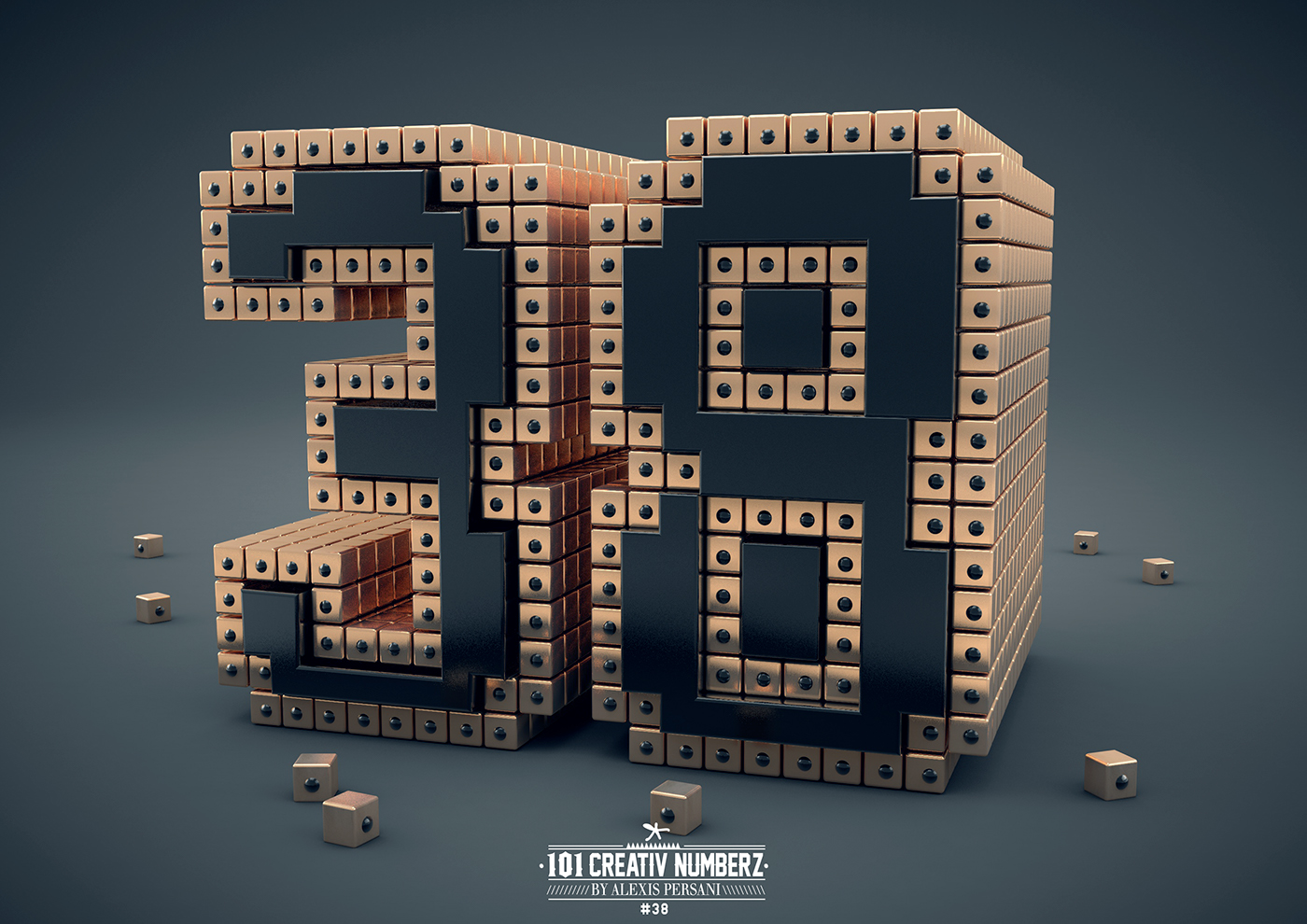 Outstanding 101 Creative Numbers Typography by Alexis Persani 35