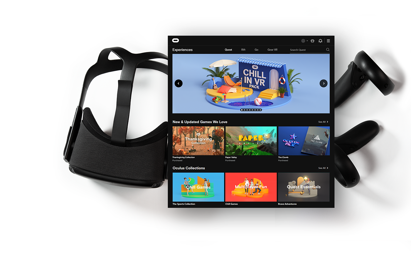 Character Oculus design 3D store branding  Fun Games facebook animation