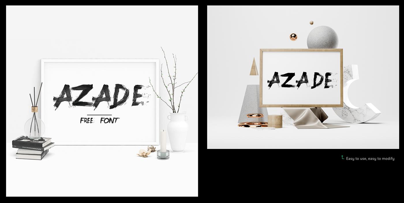 font handmade brush free painting   design graphic