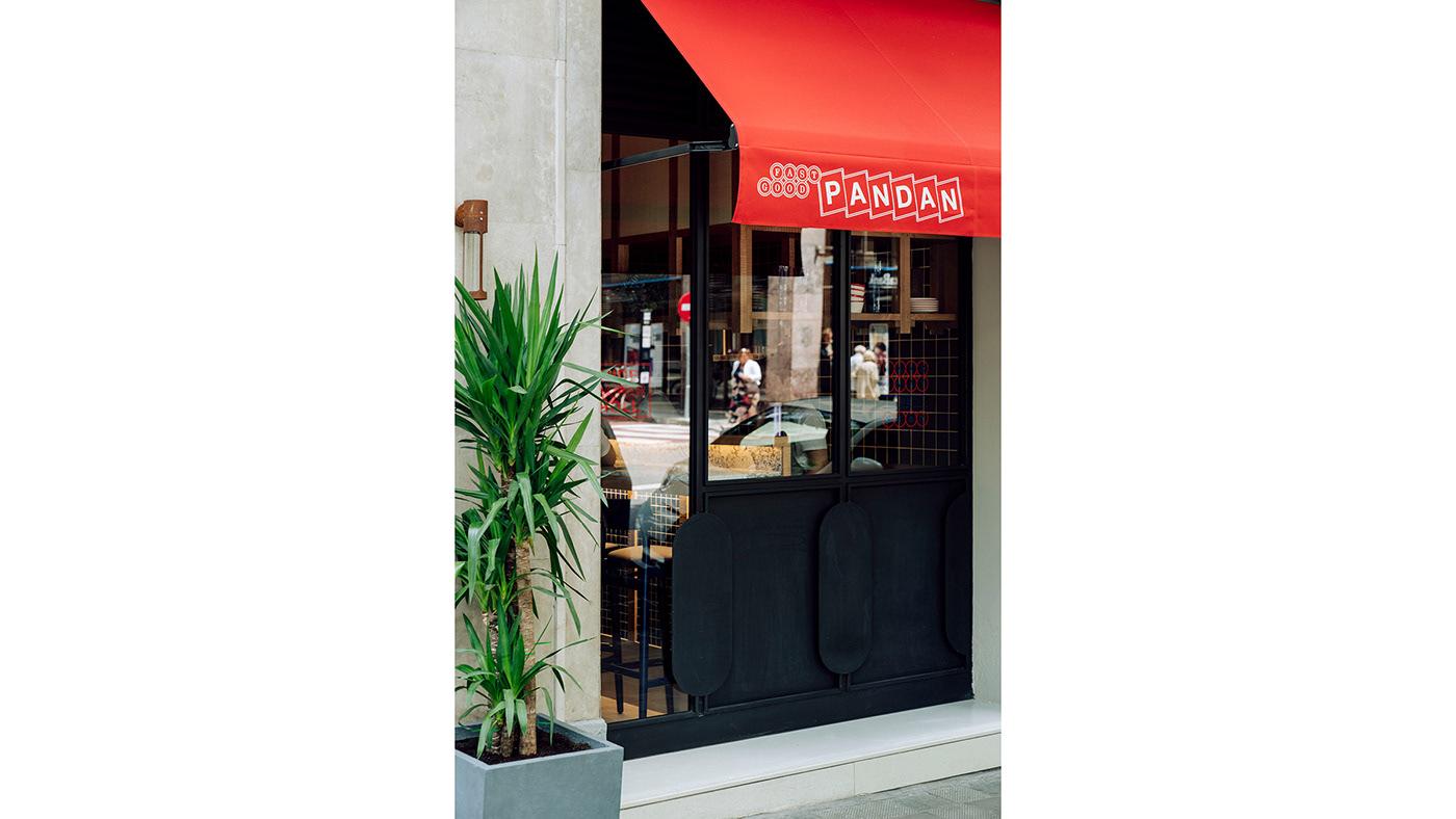 barcelona food design graphic design  identity ILLUSTRATION  logo menu Pandan fast good restaurant Vera Tamayo