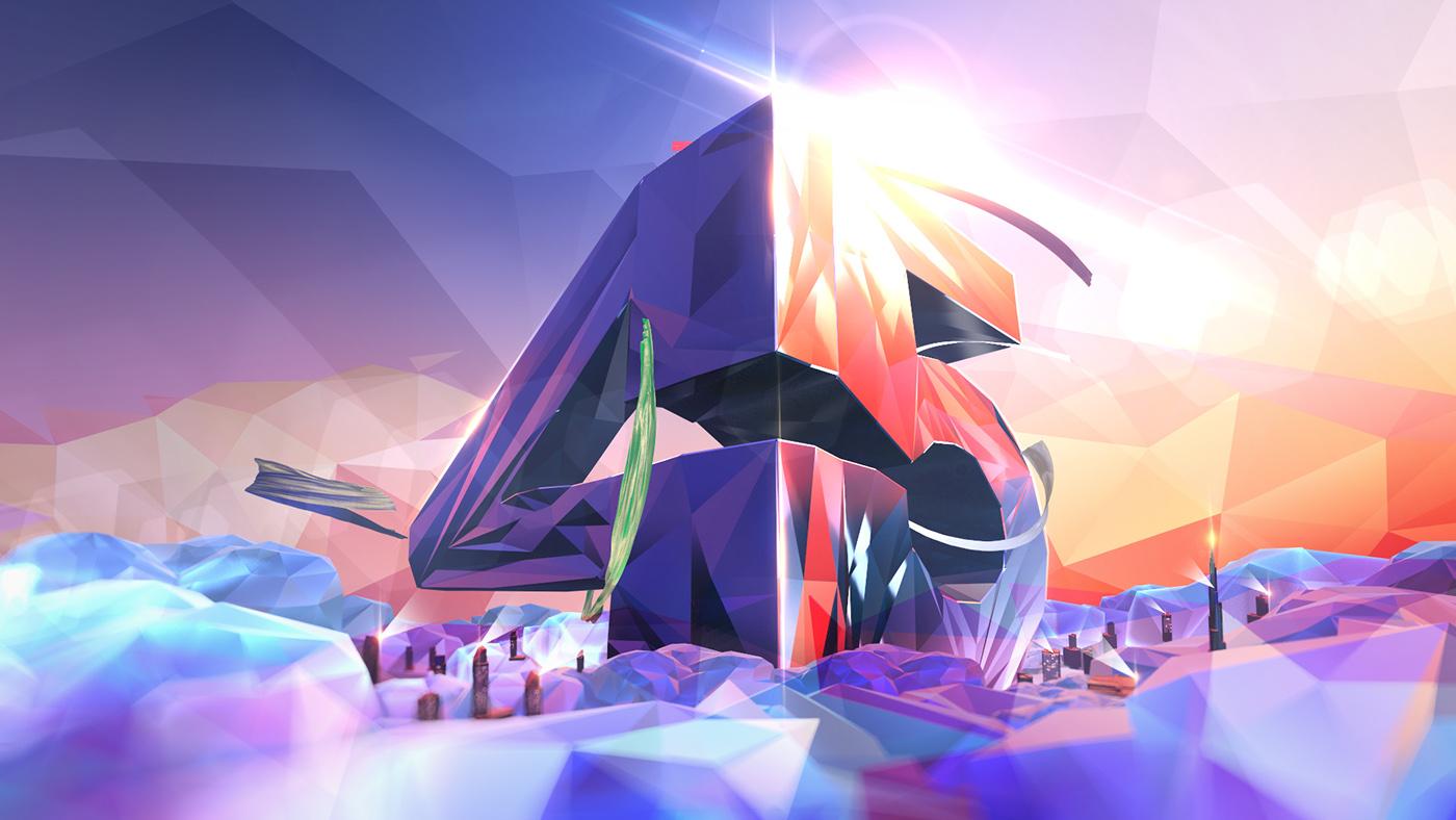 UAE dubai abudhabi nationalday lowpoly animation  Ident tv