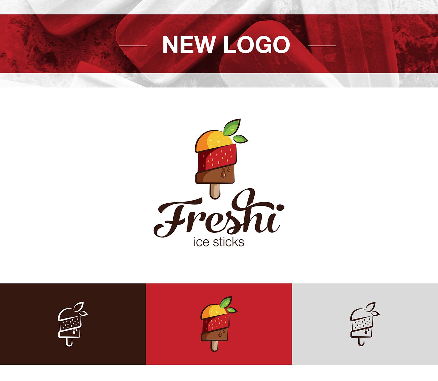 ice cream ice sticks Freshi creative logo colorful Brandinc brandinc. fresh facelift rebranding