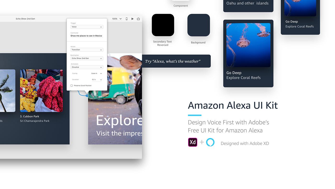 voice Adobe XD ui kit freebie UI ux