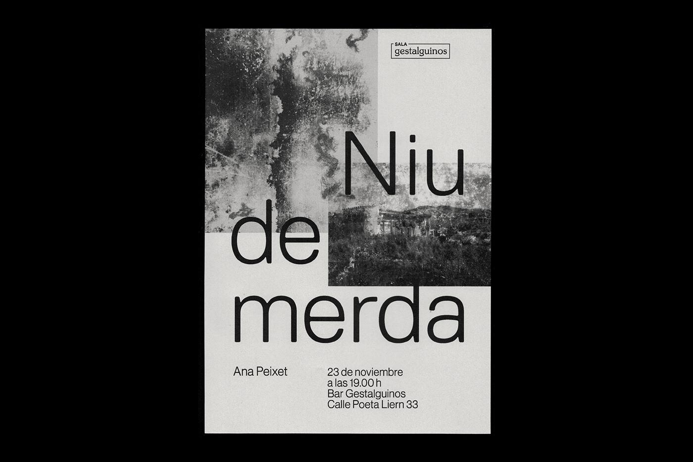 Exposición cartel merda poster Exhibition