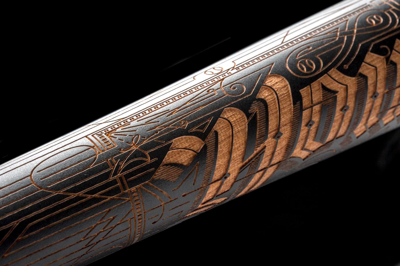 Nike perfect game All American Classic Home Run King baseball nike baseball laser etching Victorian Graffiti