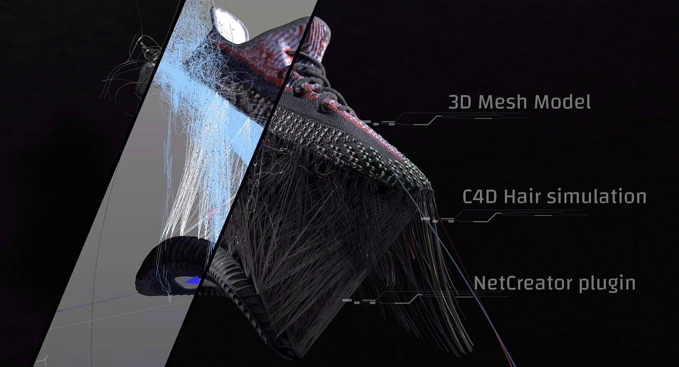 adidas Advertising  c4d Fashion  motion Nike redshift shoes sneakers yecheil