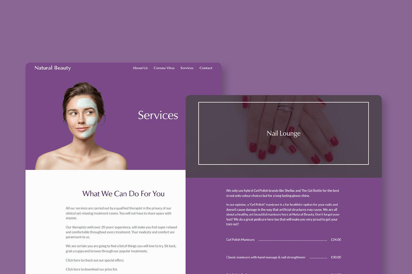 beauty salon skin care