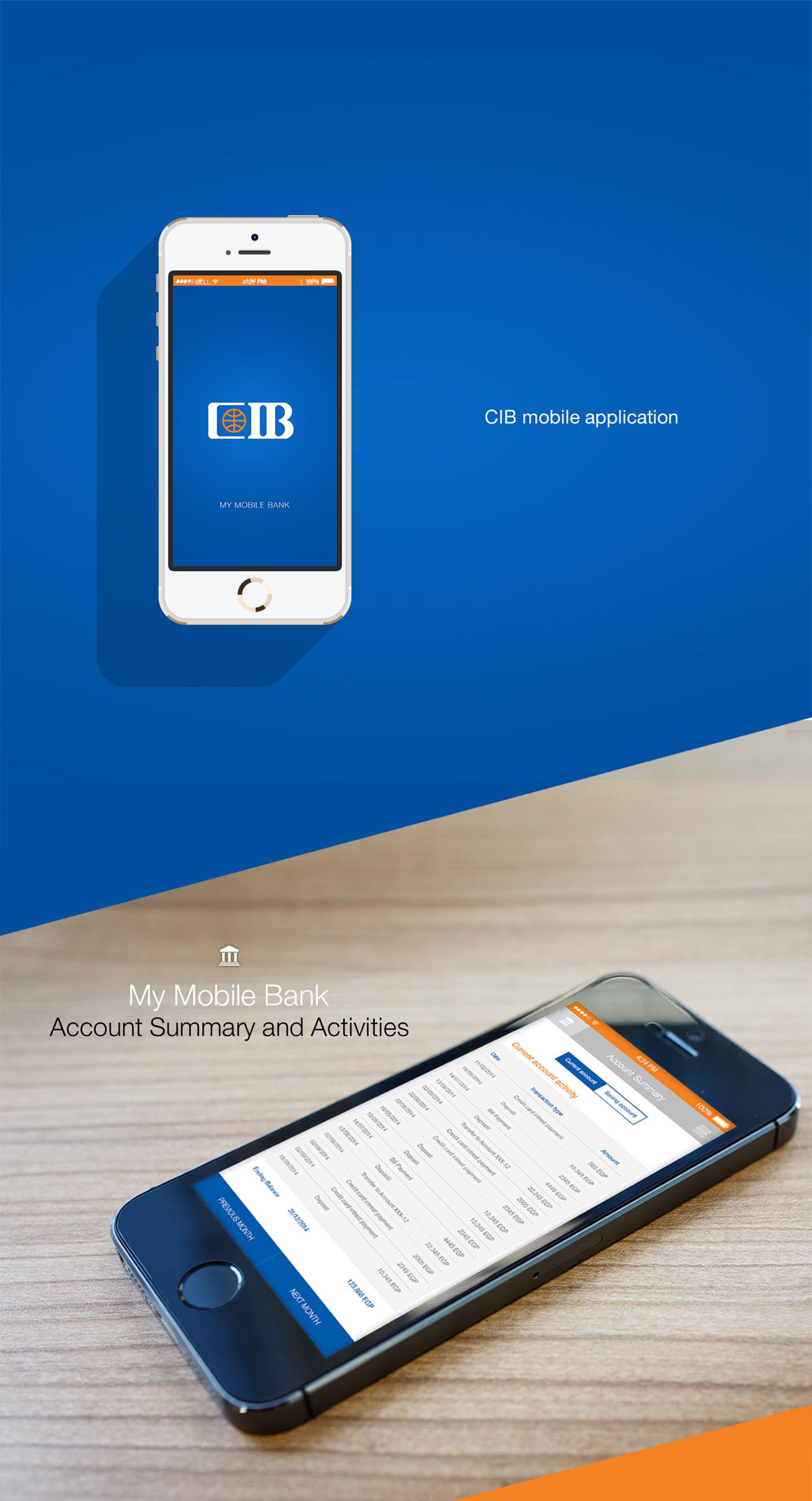 mobile application creative design Bank cib Brandinc brandinc.