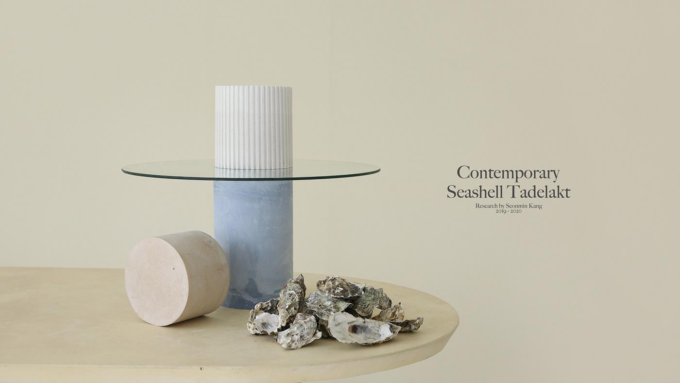 Contemporary Seashell Tadelakt The main photography with typography
