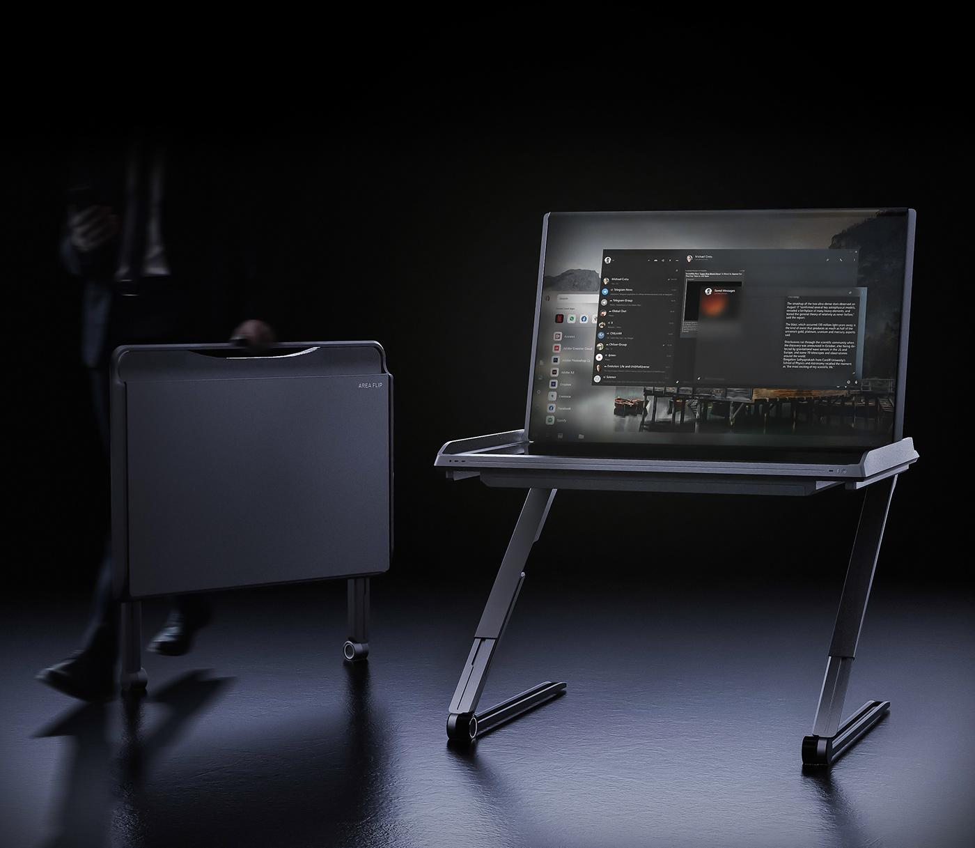 3D Computer desktop industrial design  Interior Office Packaging PC product design  ux