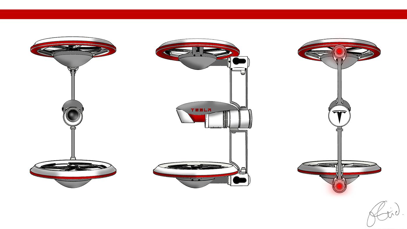 tesla drone design inspire