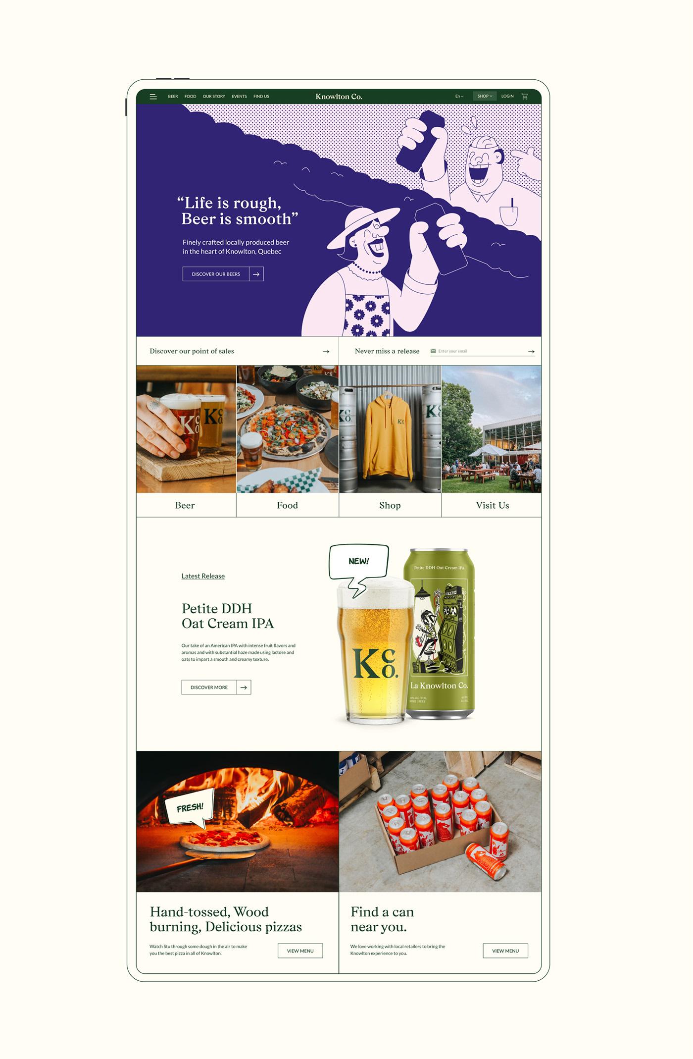 beer brewery craft beer ui design UI/UX user interface Web Web Design  Website wordpress