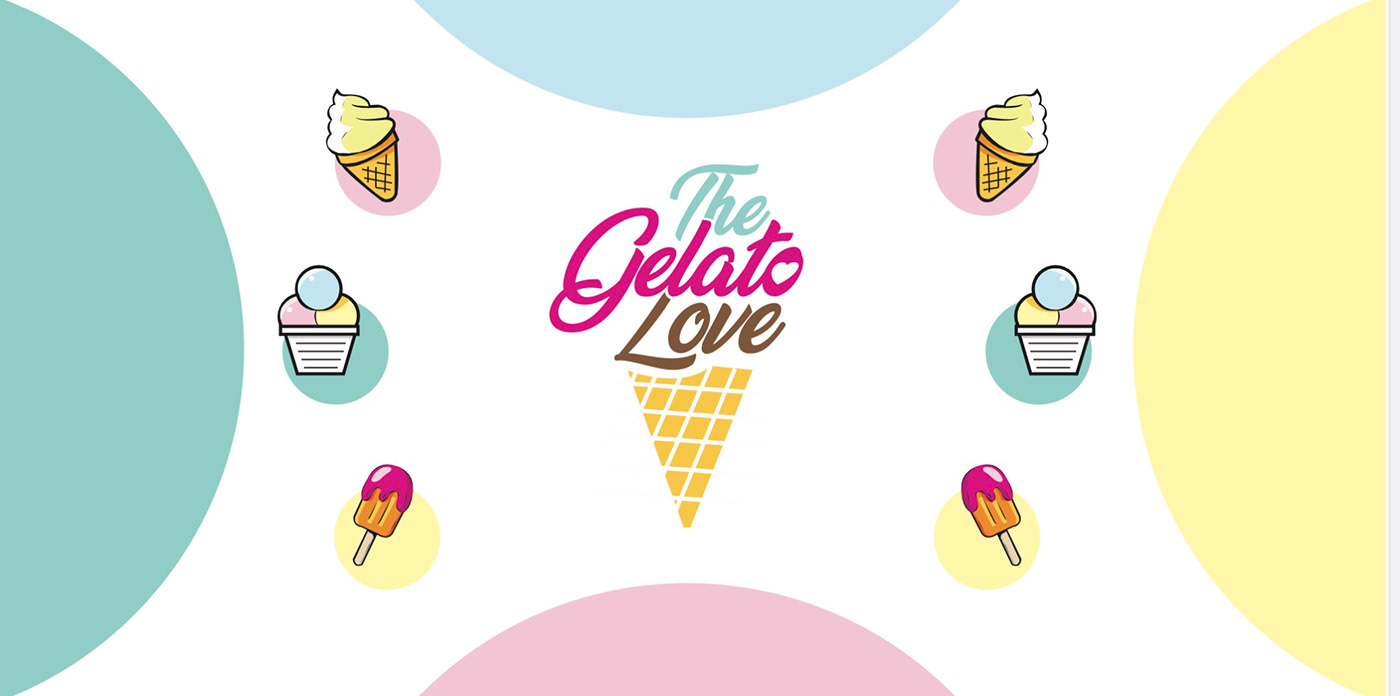 Gelato ILLUSTRATION  logo menu menu design restaurant
