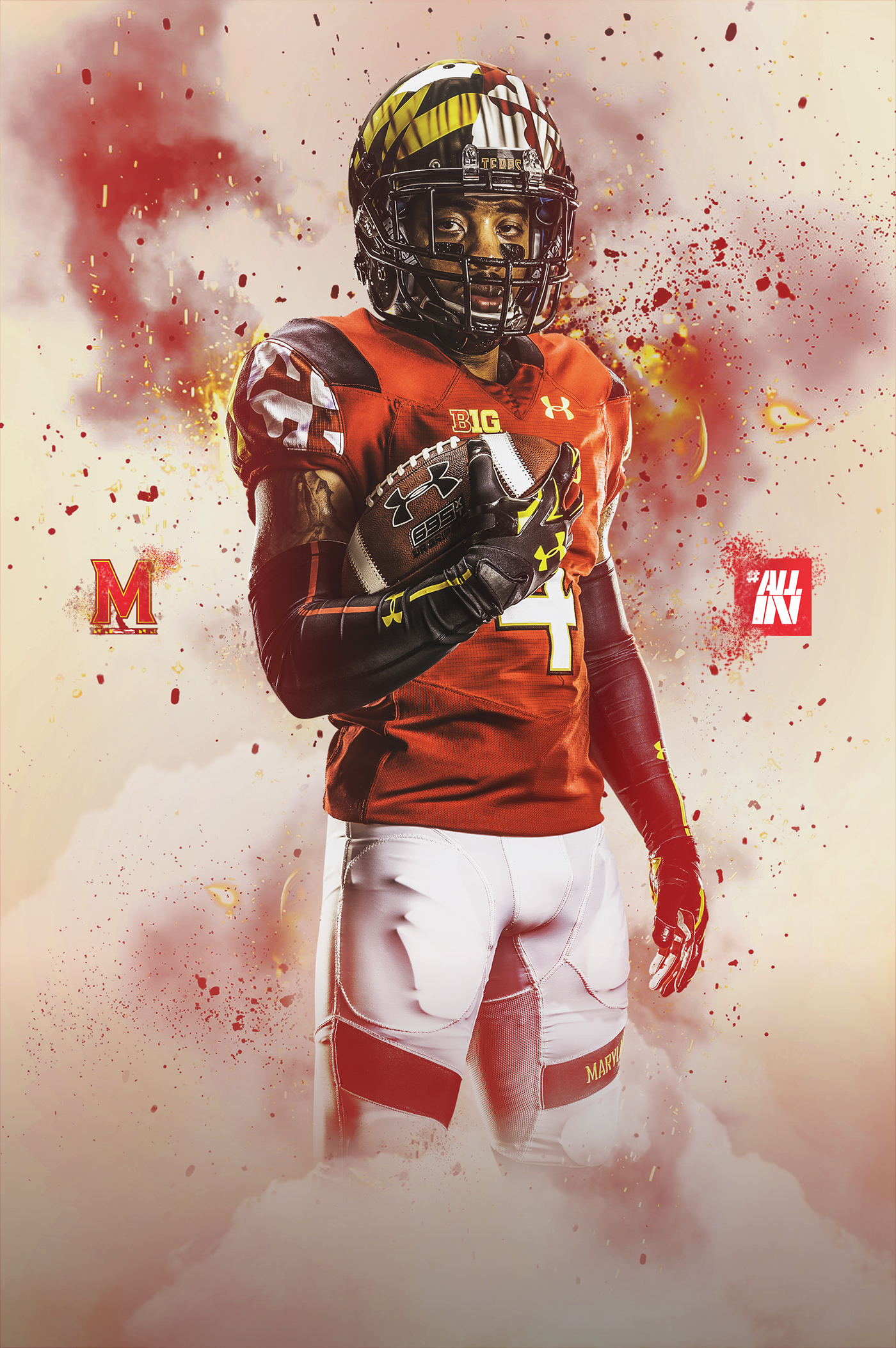 Posters Behance on Football Maryland