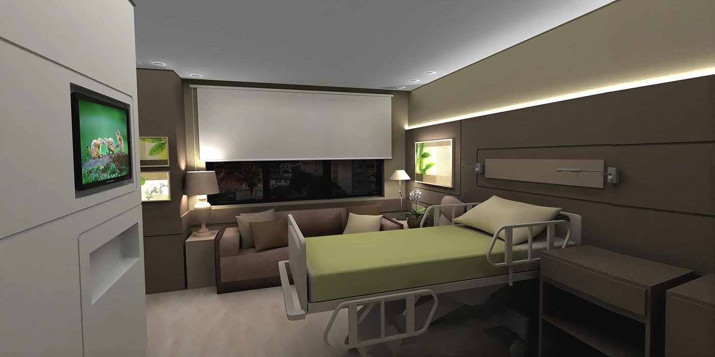 Healthcare Design Luxury patient room concept on Behance
