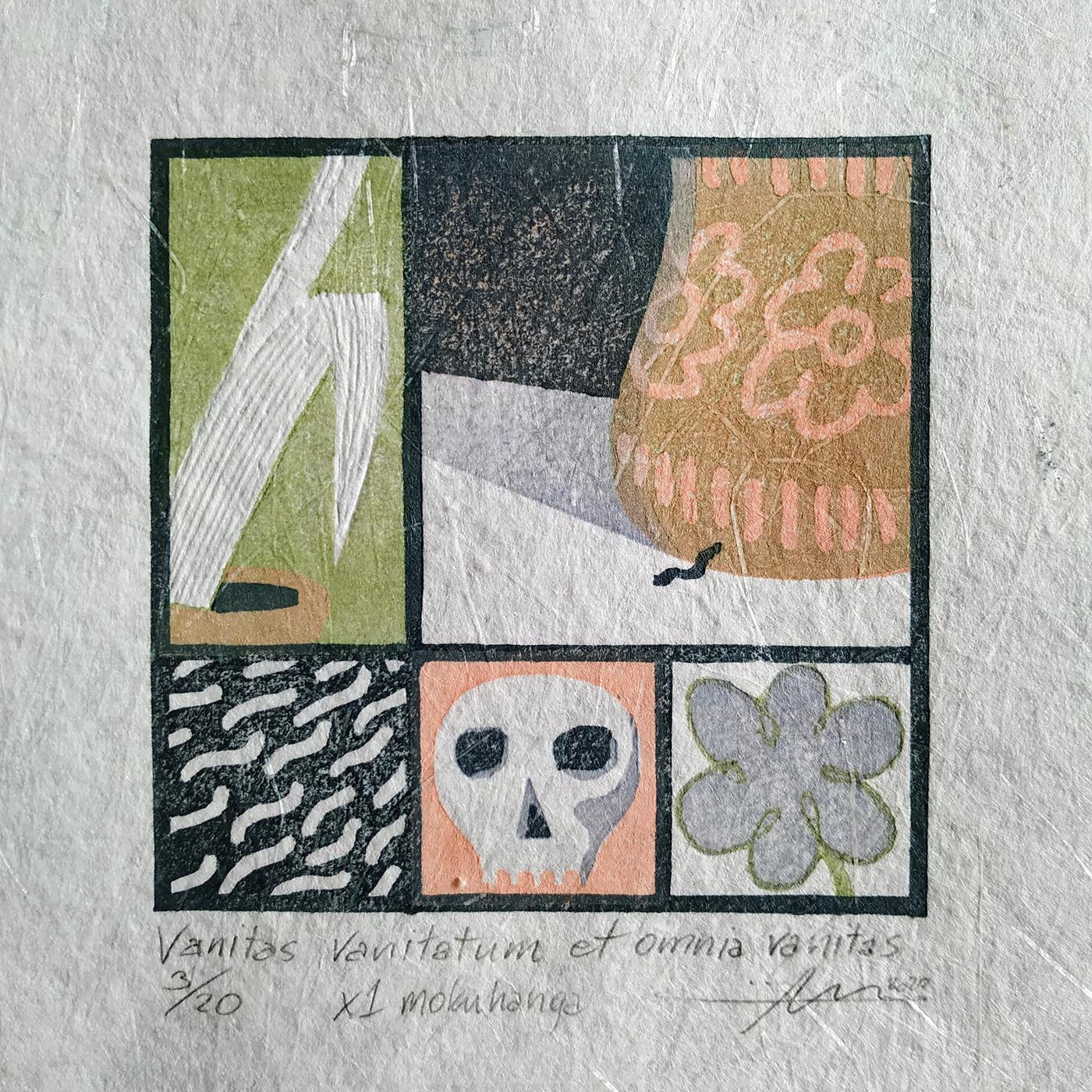 Contemporary printmaking — japanese colour woodblock — Jacek Machowski alias macha / machy.