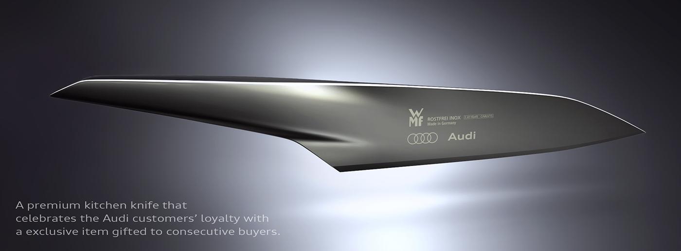 knife kitchen cooking WMF Audi premium