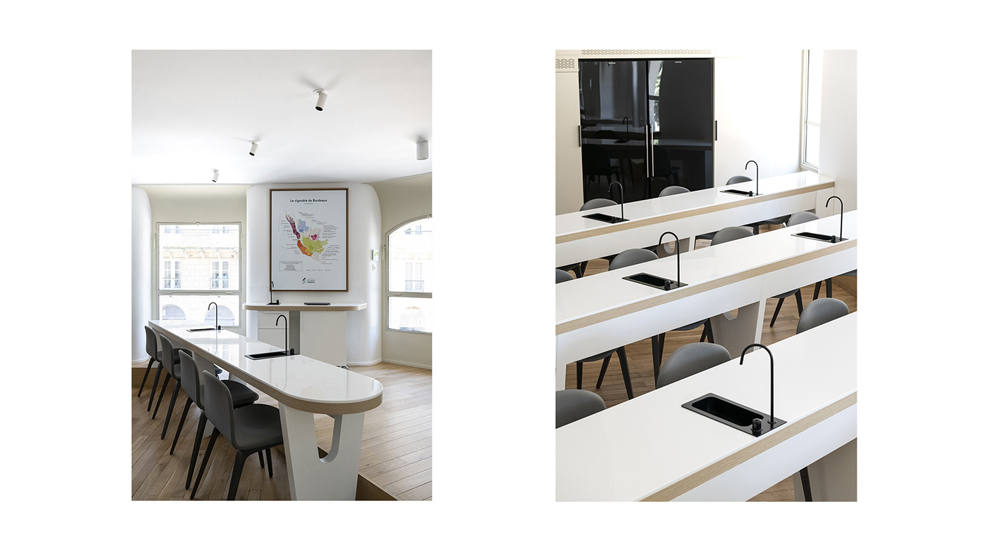 Image may contain: interior, table and wall