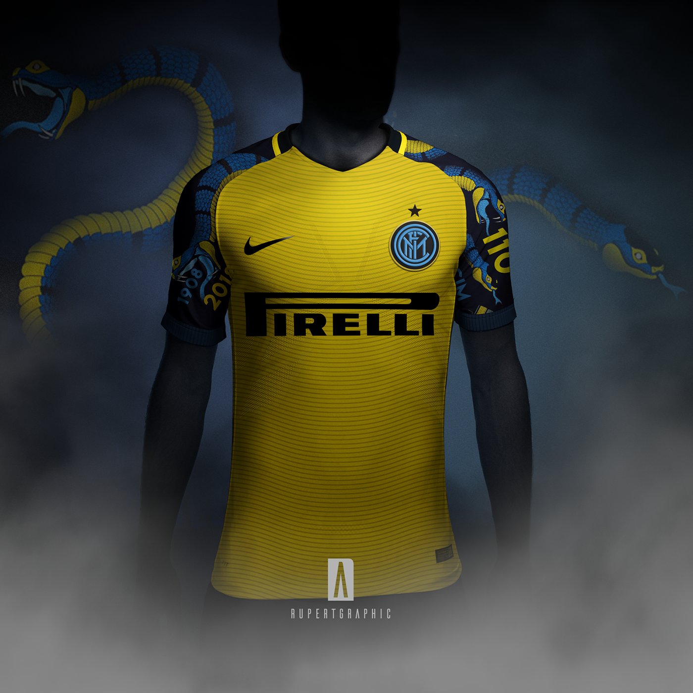 buy online 5c556 9c855 Inter 3rd Shirt | Yellow snake Concept on Behance