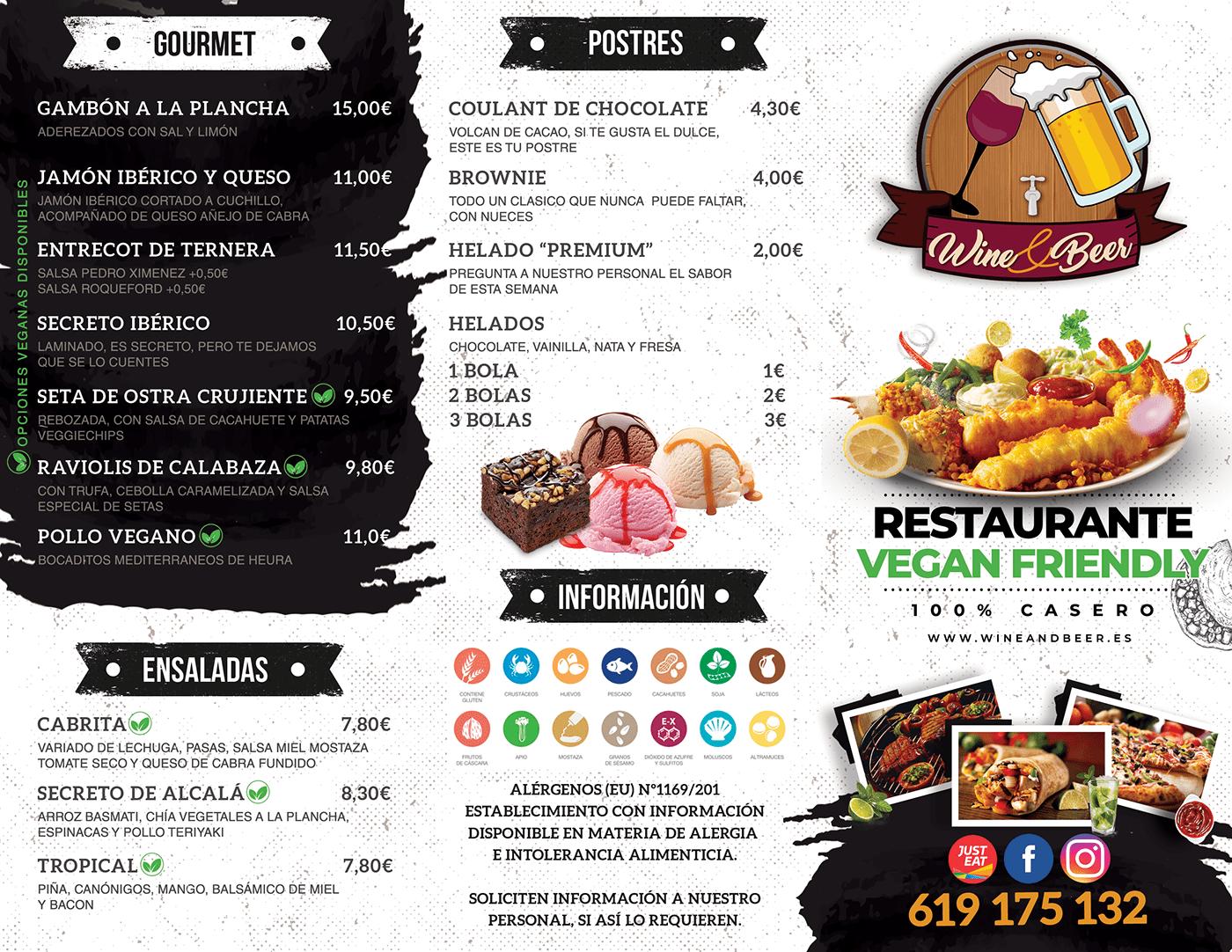 Alcala de Henares beer burguer Food  food menu menu restaurant wine