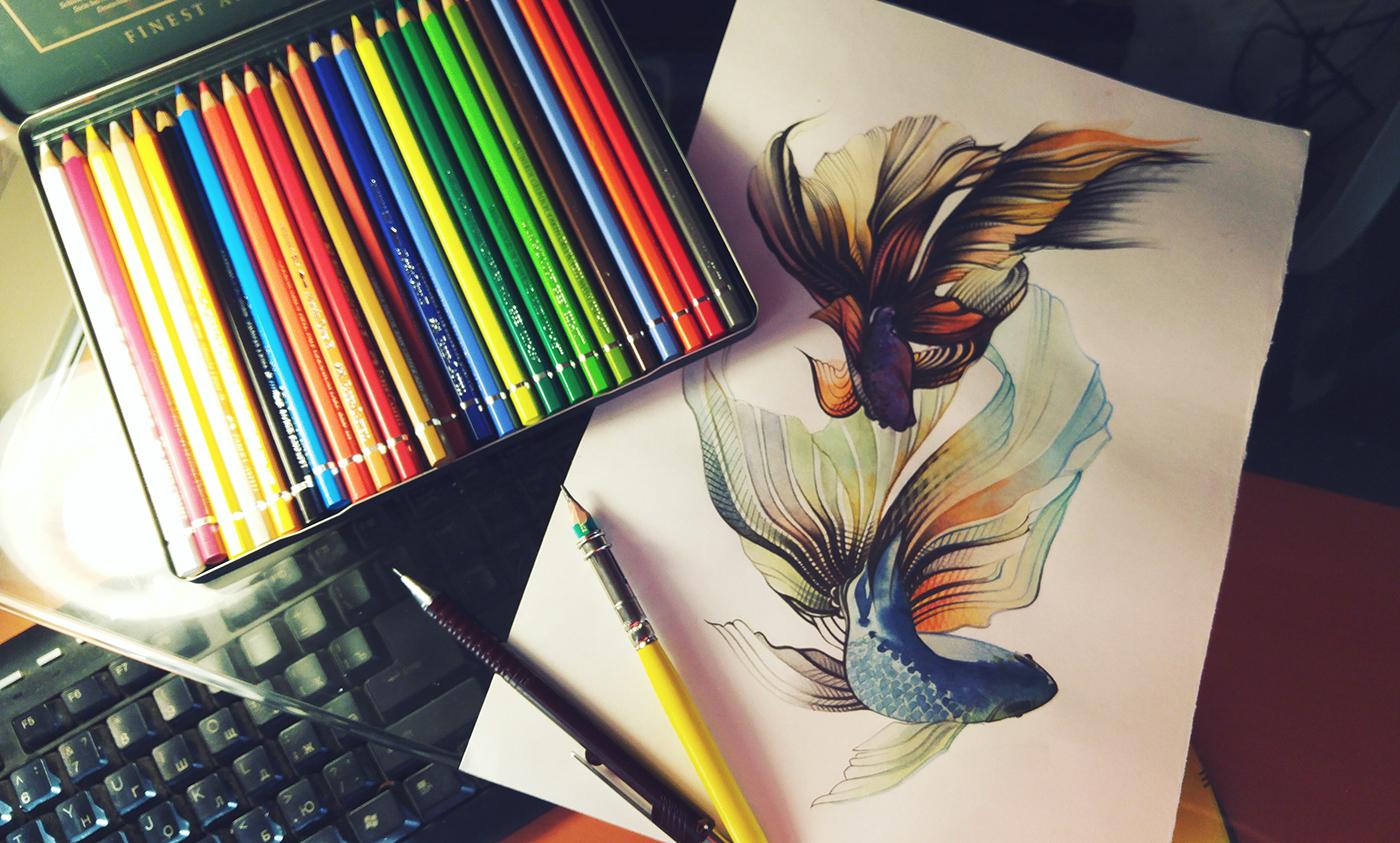 красивые картинки с предметами для рисования рождения дар