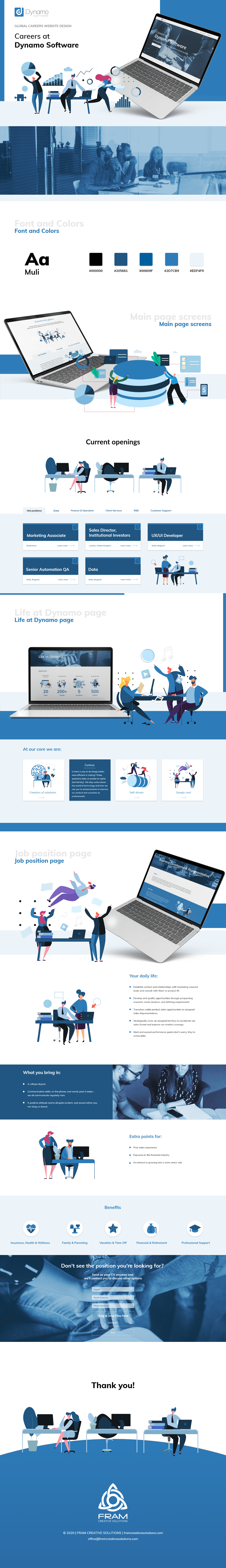 Fintech employer branding Webdesign UI Careers