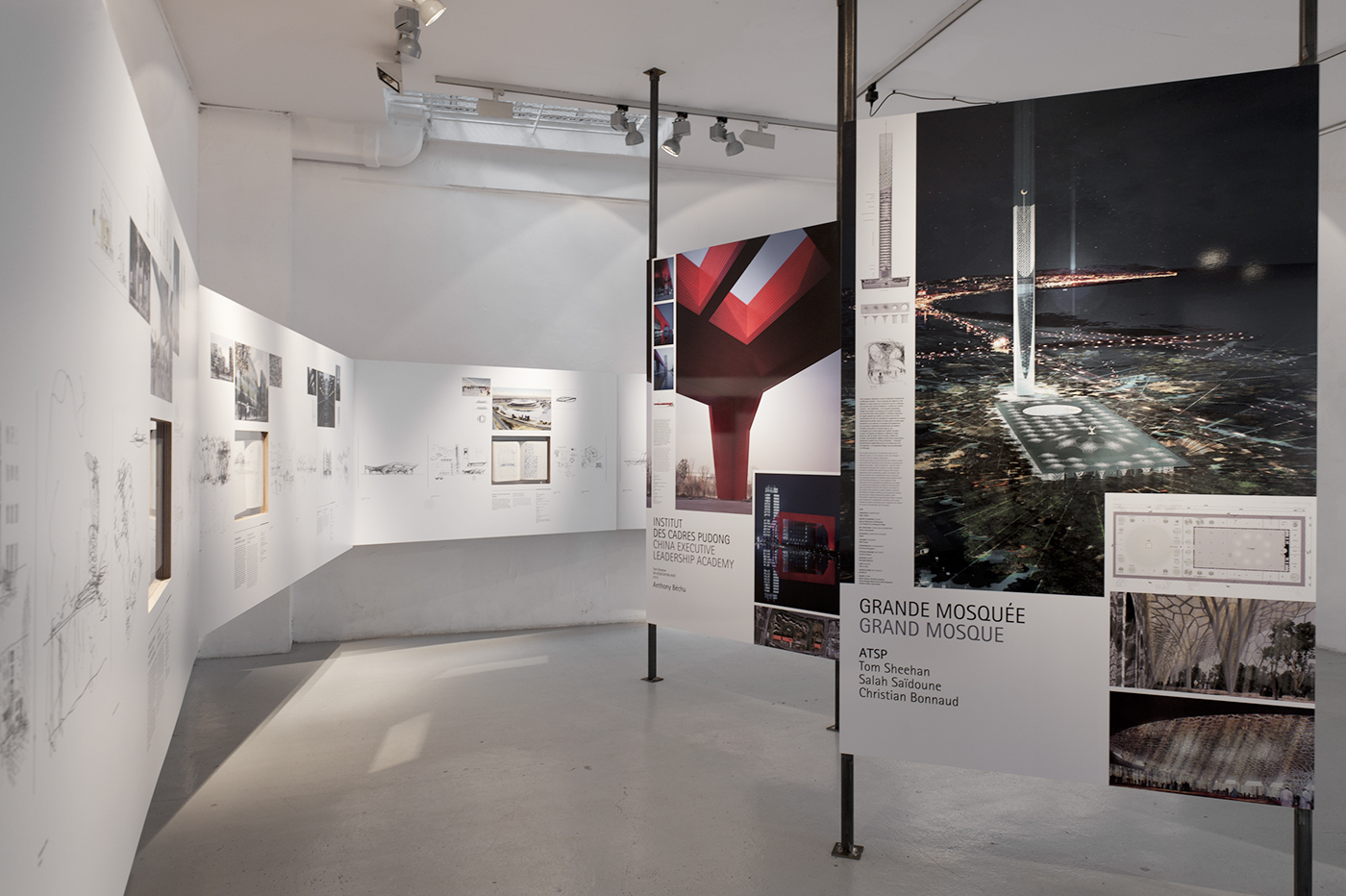 architecture galerie Scénographie Sheehan