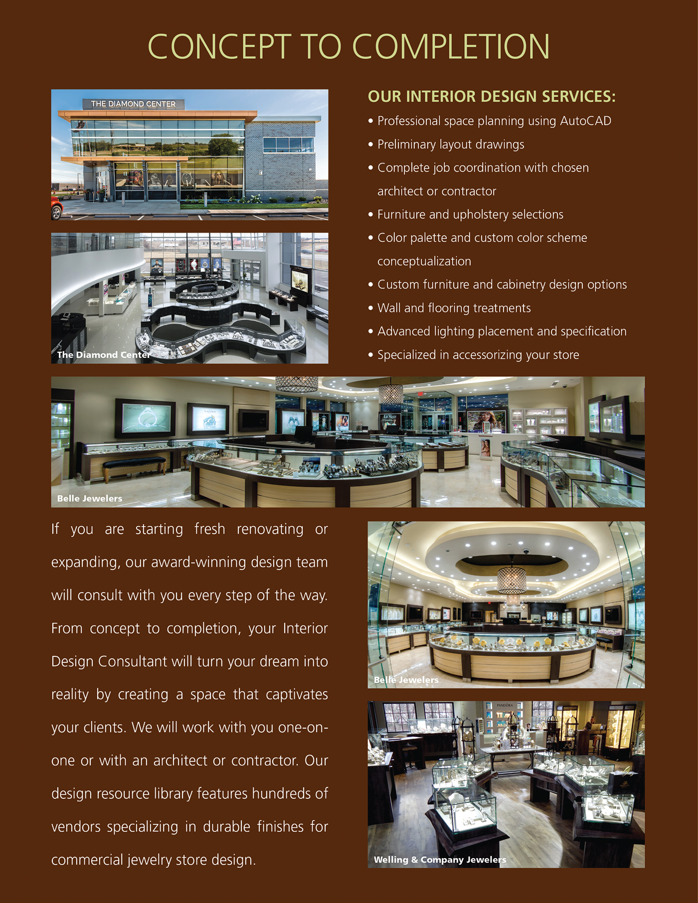 Interior Design Jewelry Stores Leslie Mcgwire On Behance