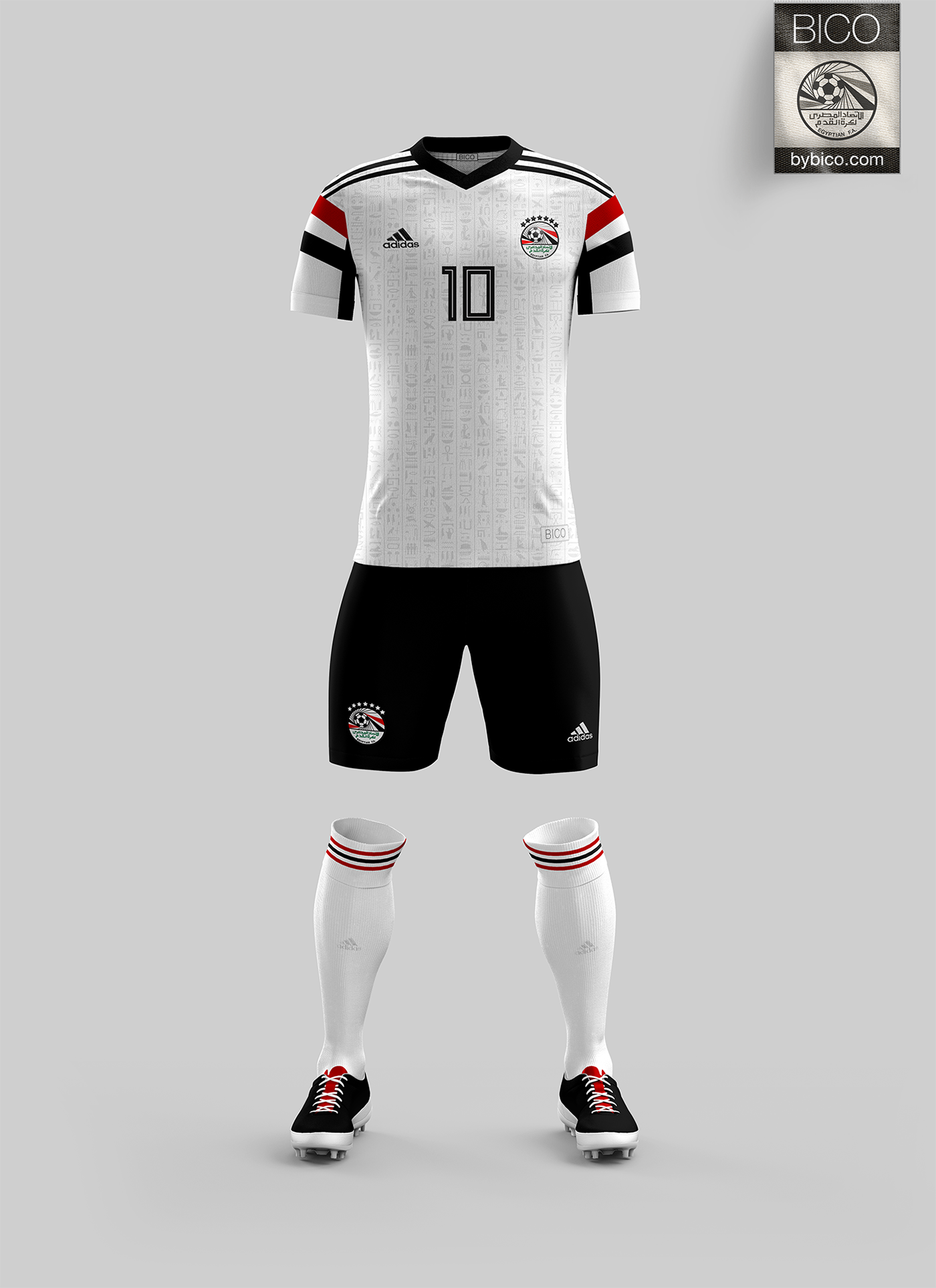 A homage to Egypt s 1990 World Cup Kit with Egyptian Hieroglyphs pattern. d96c85b1e