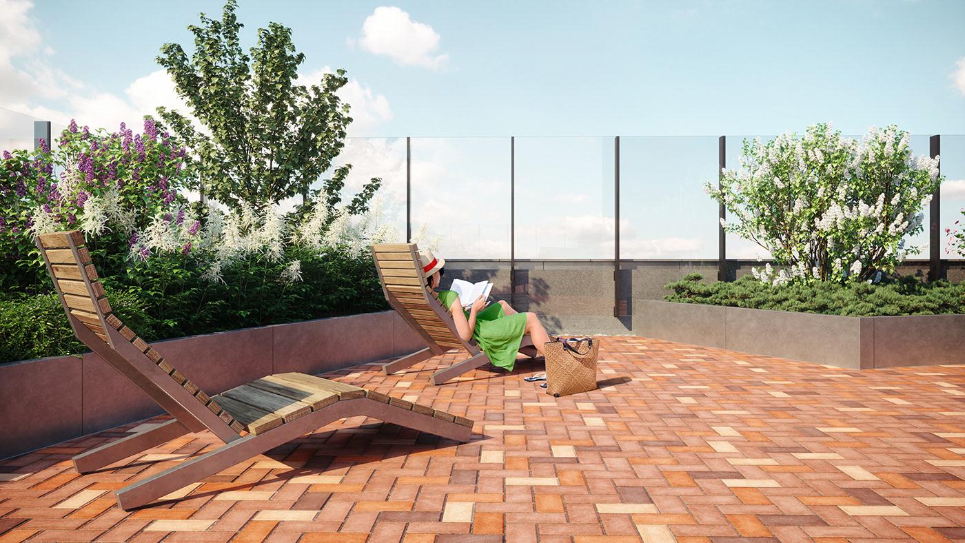 3D 3D-visualisation architecture development forum city granum thegranum visualisation residential corona