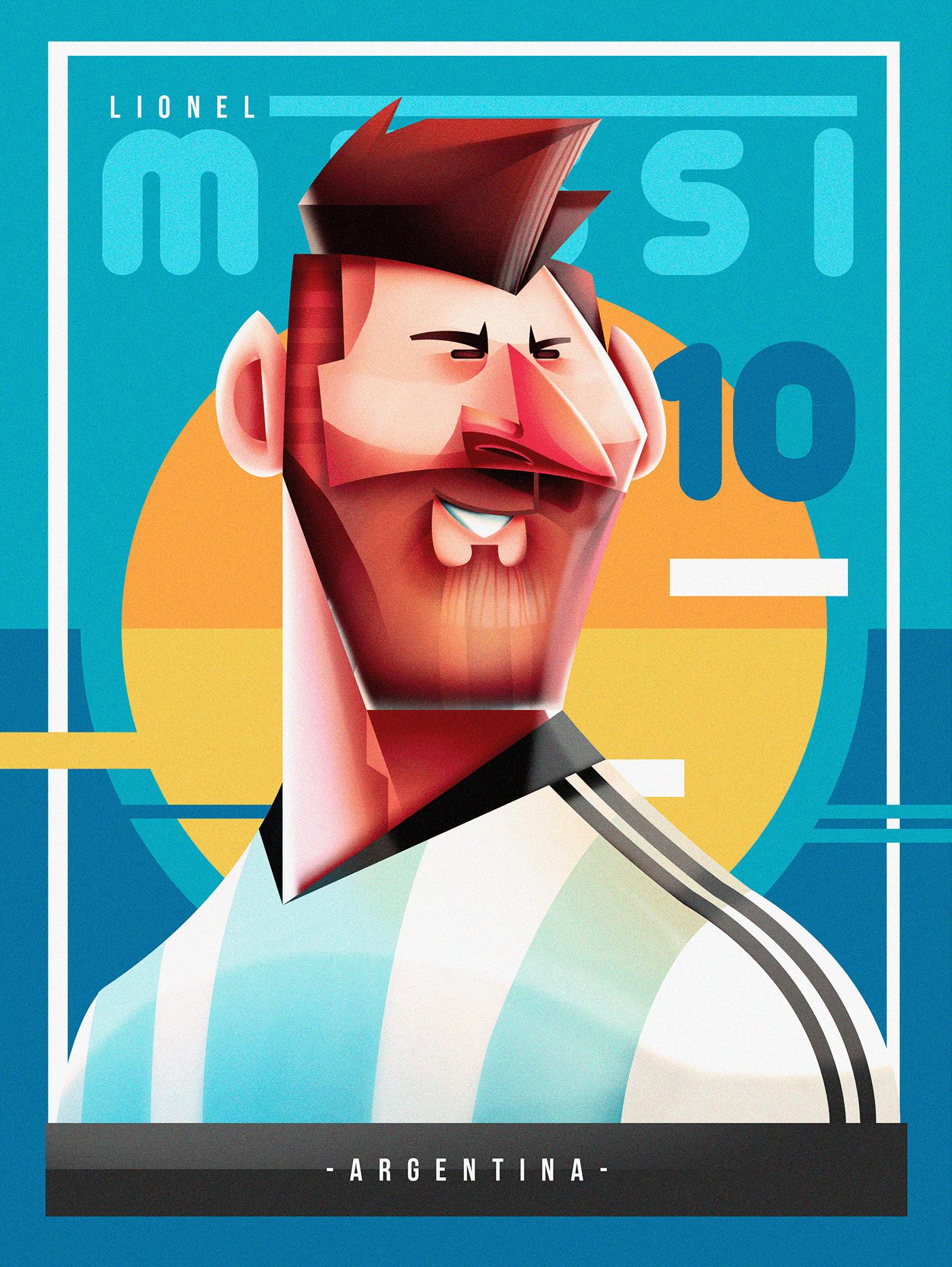 cartoon deporte Futbol GOL messi Neymar Ronaldo soccer sports