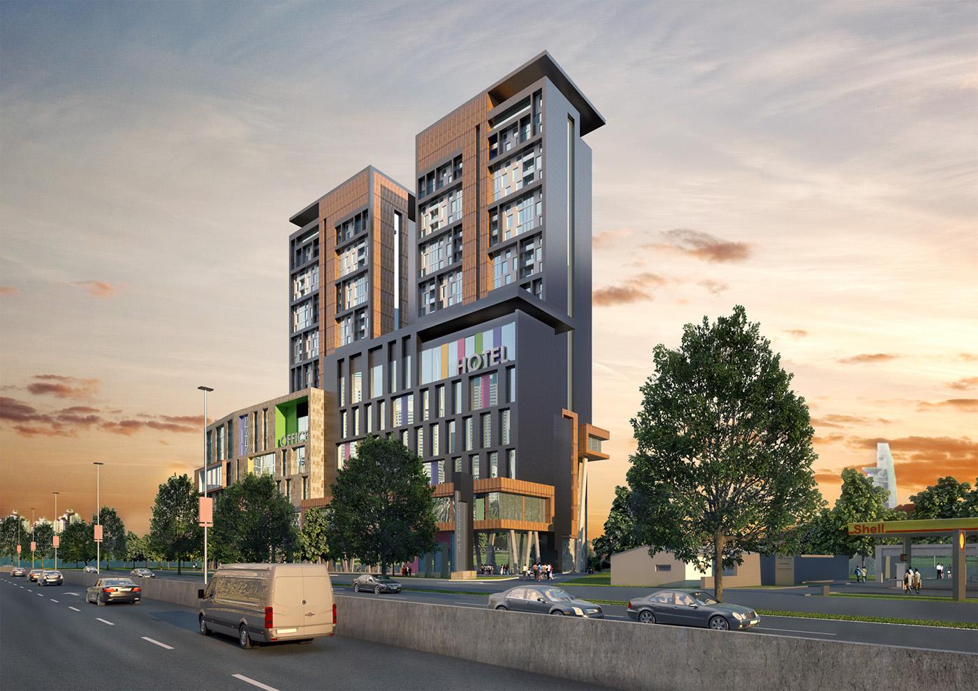 Proposed design mixed use development in kuala lumpur on for Design hotel kuala lumpur